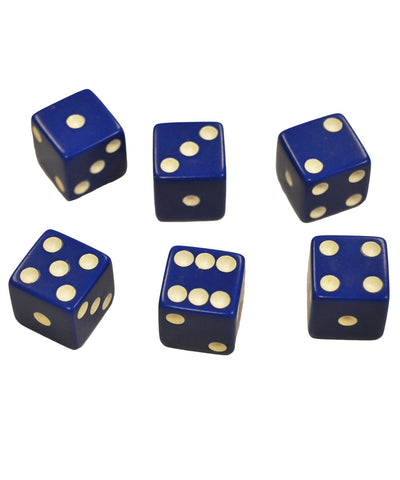 Set of 6 Blue Dice
