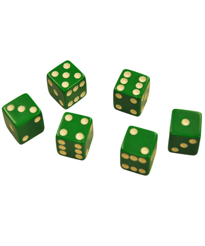 Set of 6 Green Dice