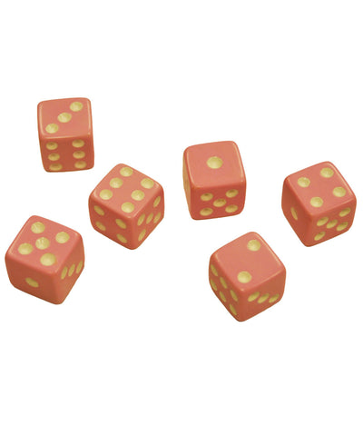 Set of 6 Pink Dice