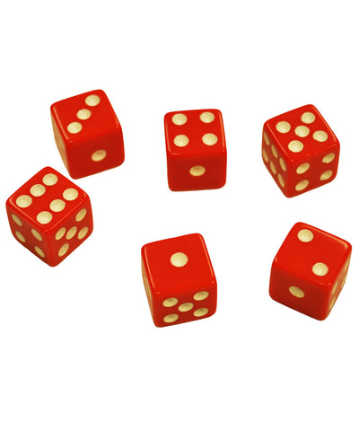 Set of 6 Red Dice