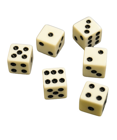 Set of 6 White Dice