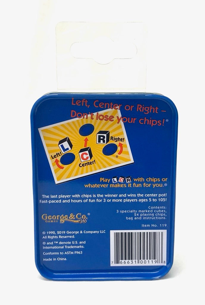 Blue Tin LCR® Left Center Right™ Dice Game