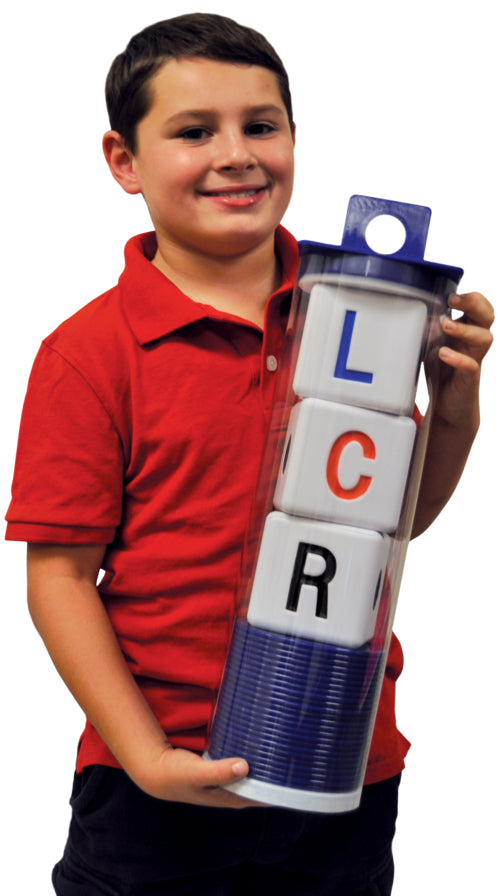 BIG LCR® Left Center Right™ Dice Game - Classic Tube