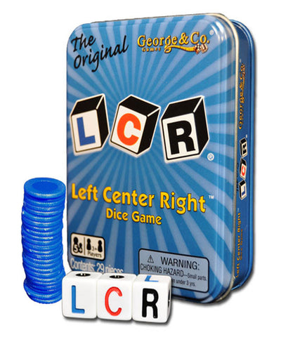 The Original LCR® Left Center Right™ Blue Tin