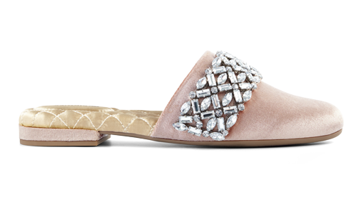 Women's slide songbird rose crystal