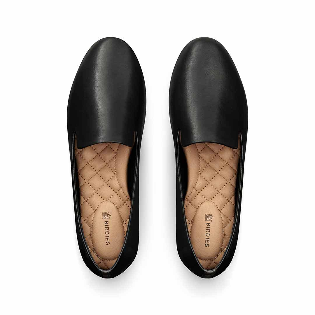 Women's flat Starling black leather