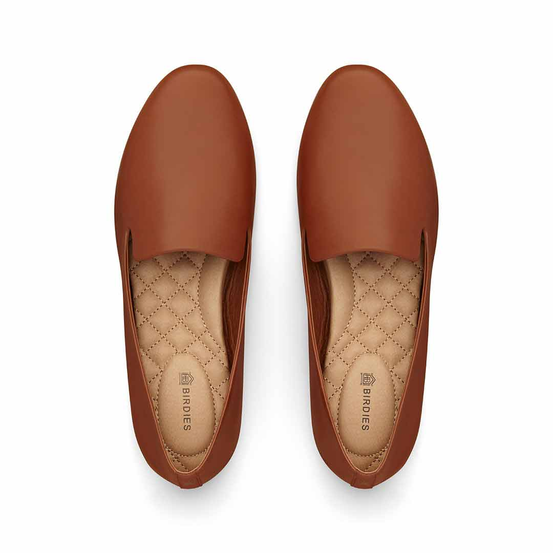 Women's flat Starling cognac leather