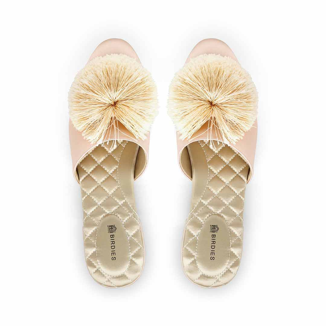 Women's slide Songbird peach satin