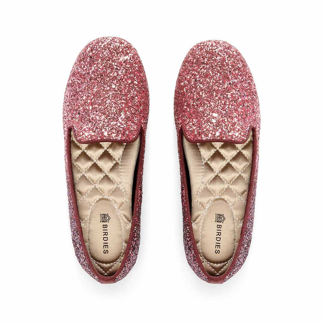 Girl's flat Little Starling pink glitter