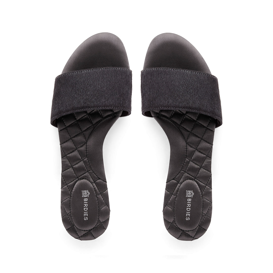 Women's sandal Sparrow black calf hair