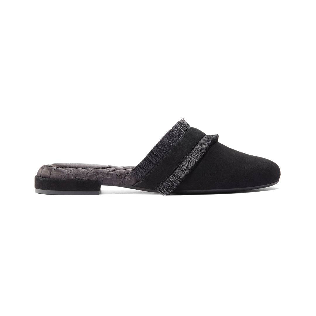Women's slides Ani Black Side view