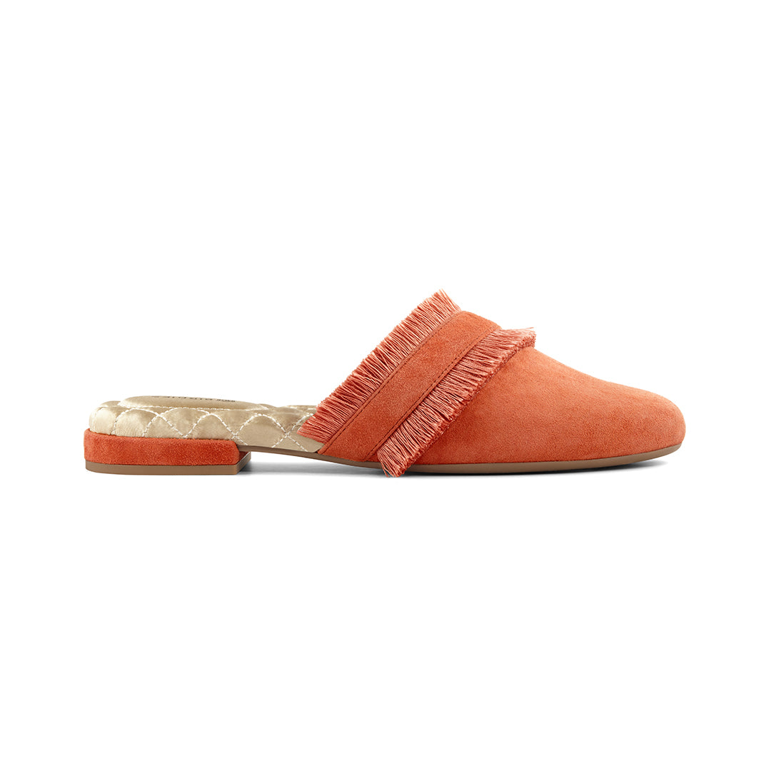 Women's slides Ani Orange side view