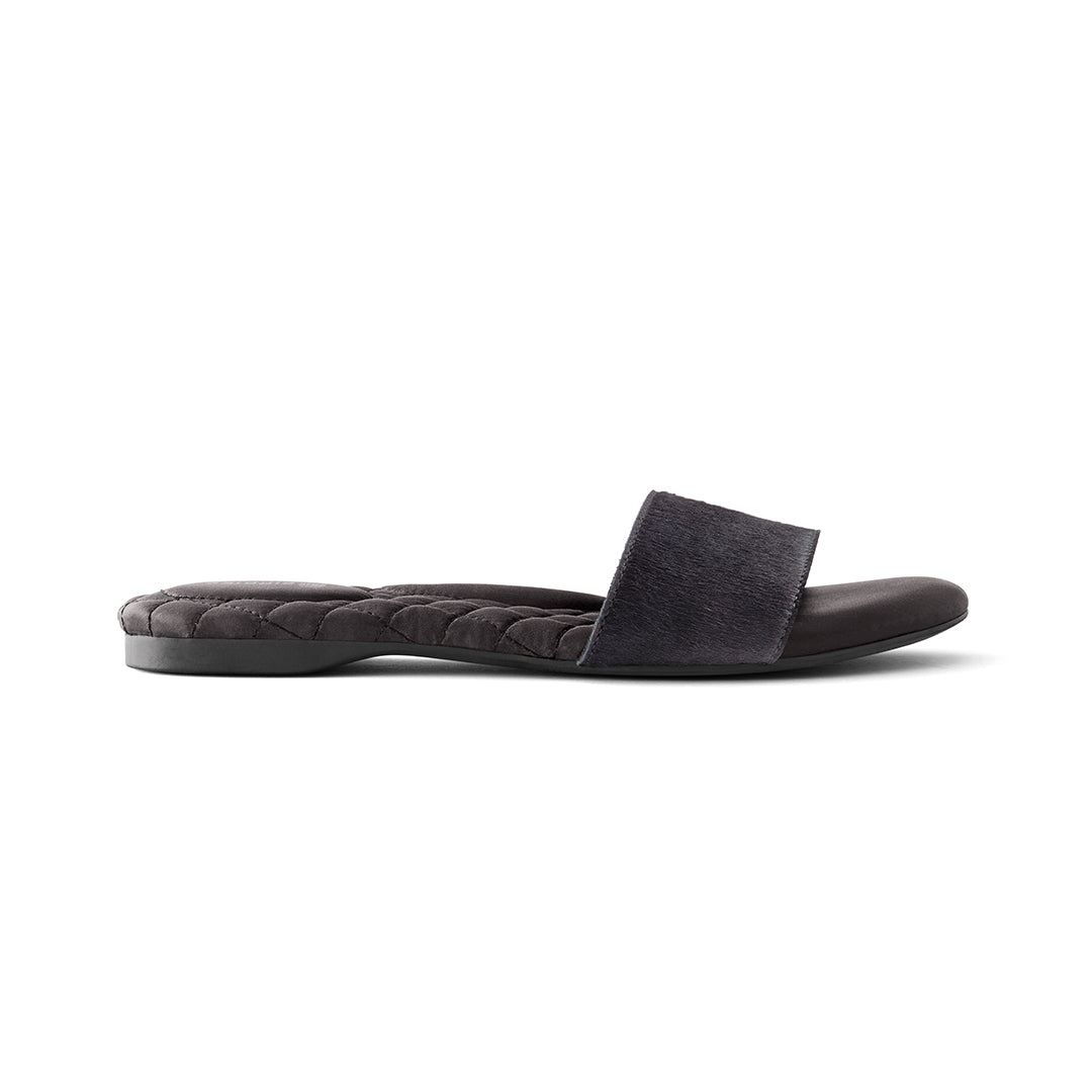 Women's sandal Sparrow black calf hair side view