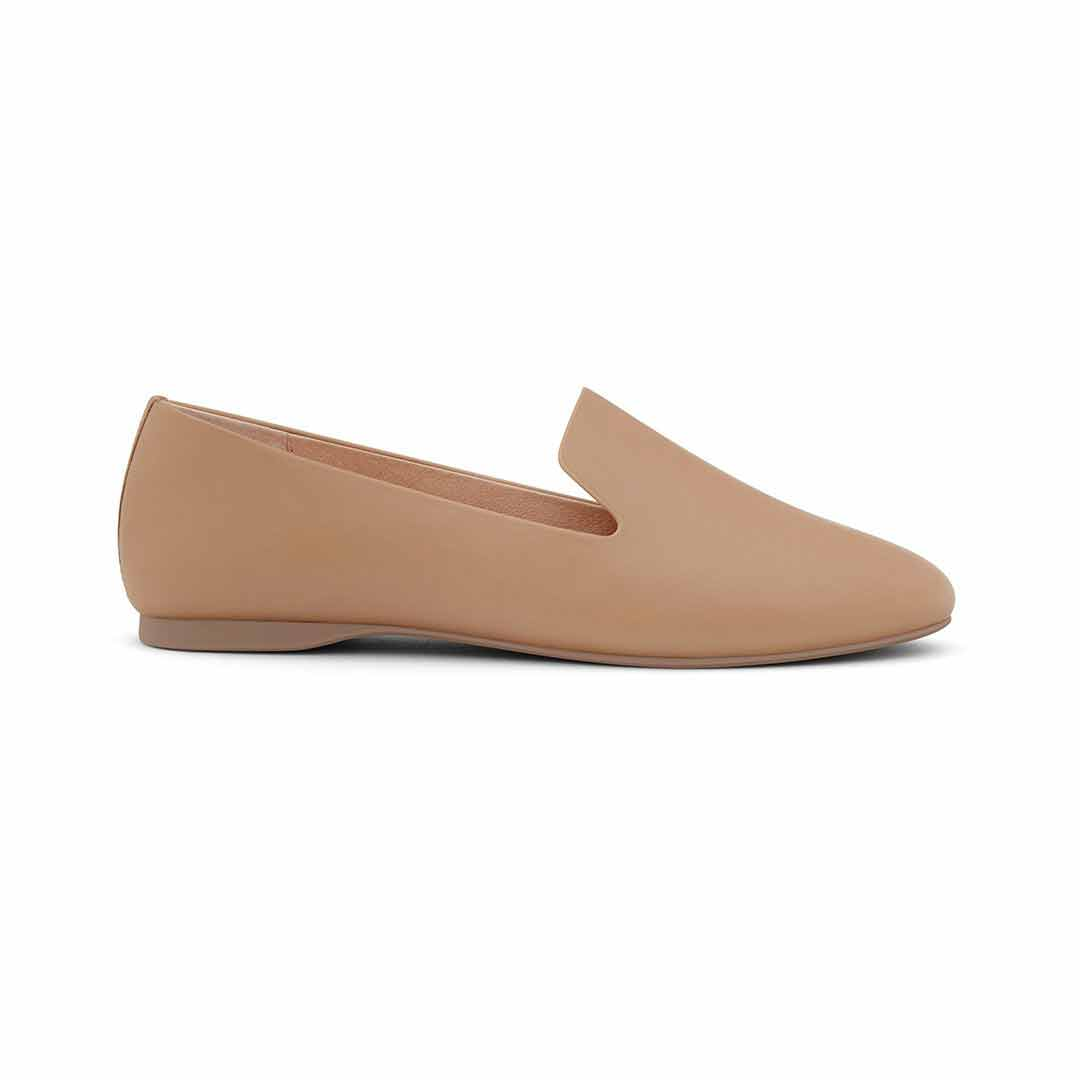 Women's flat Starling taupe leather