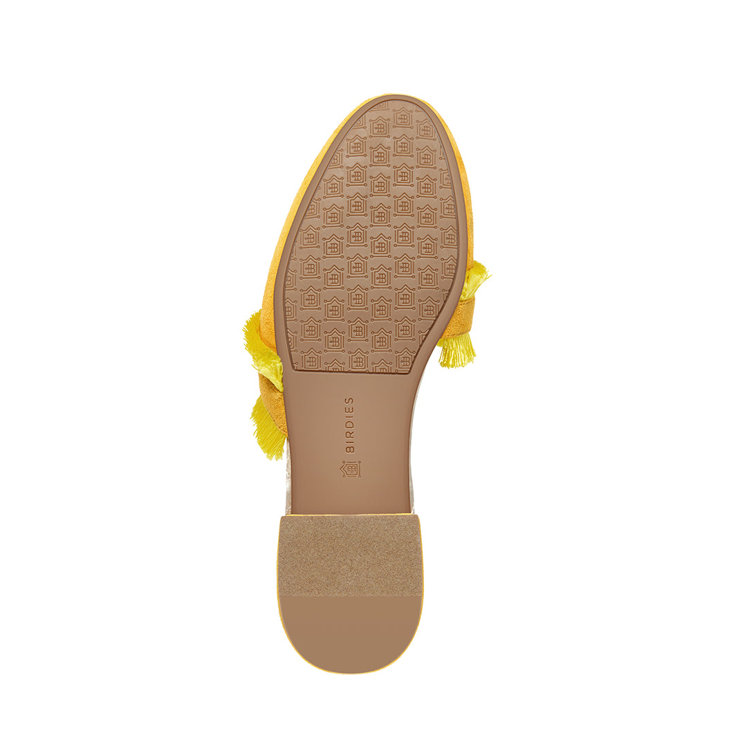 Women's slides Ani yellow bottom view