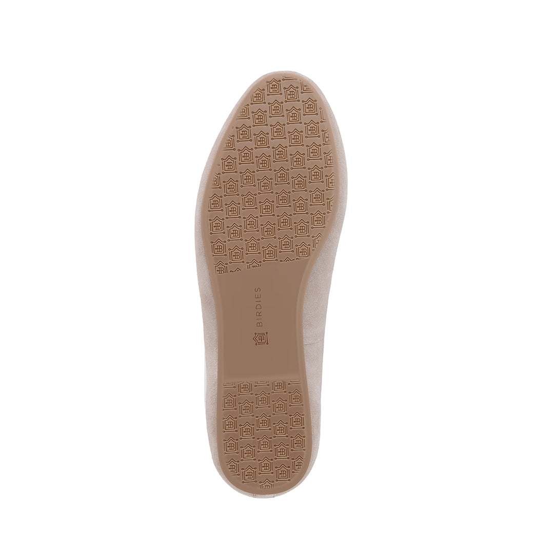 Women's flat Starling slate suede bottom view