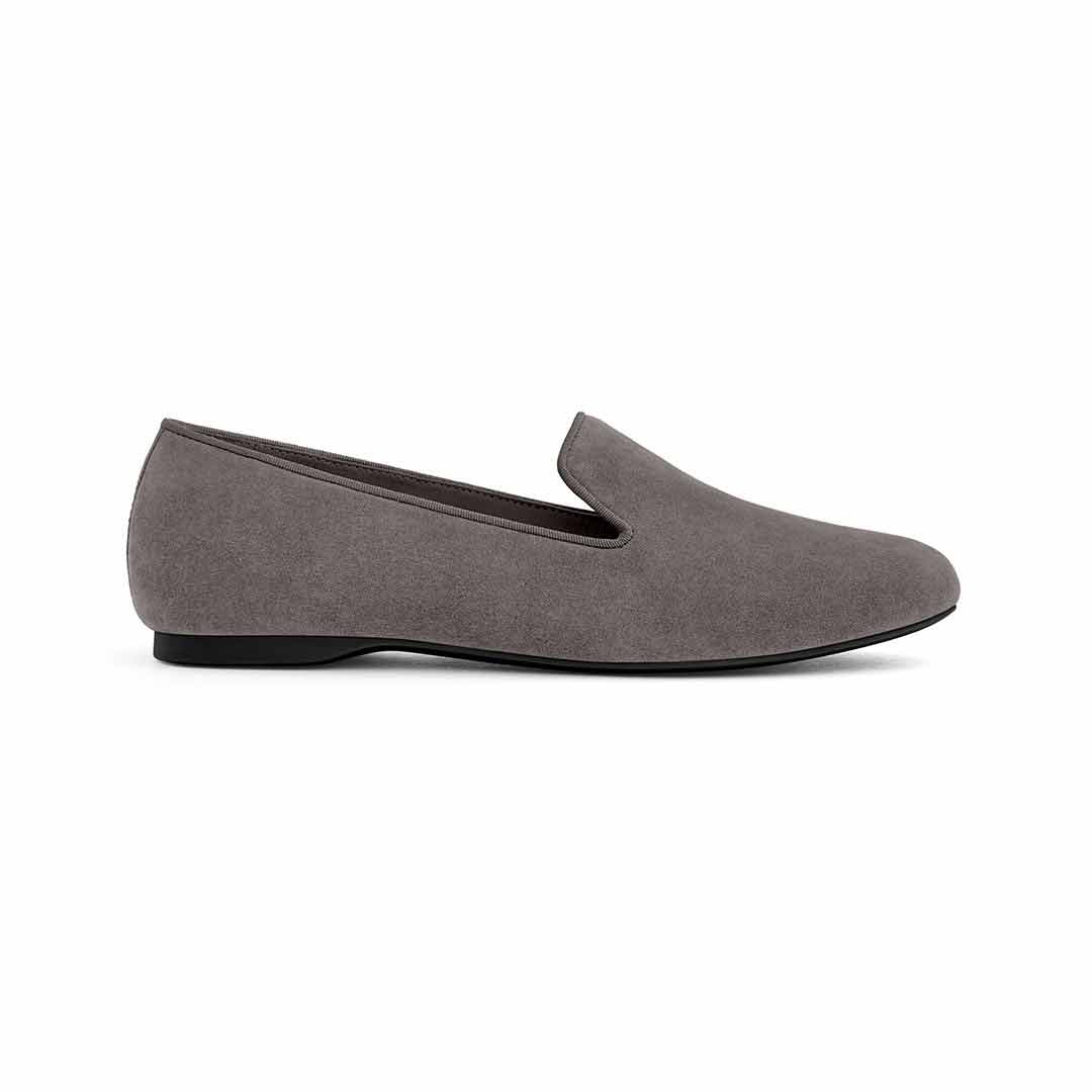 Women's flat Starling grey suede side view