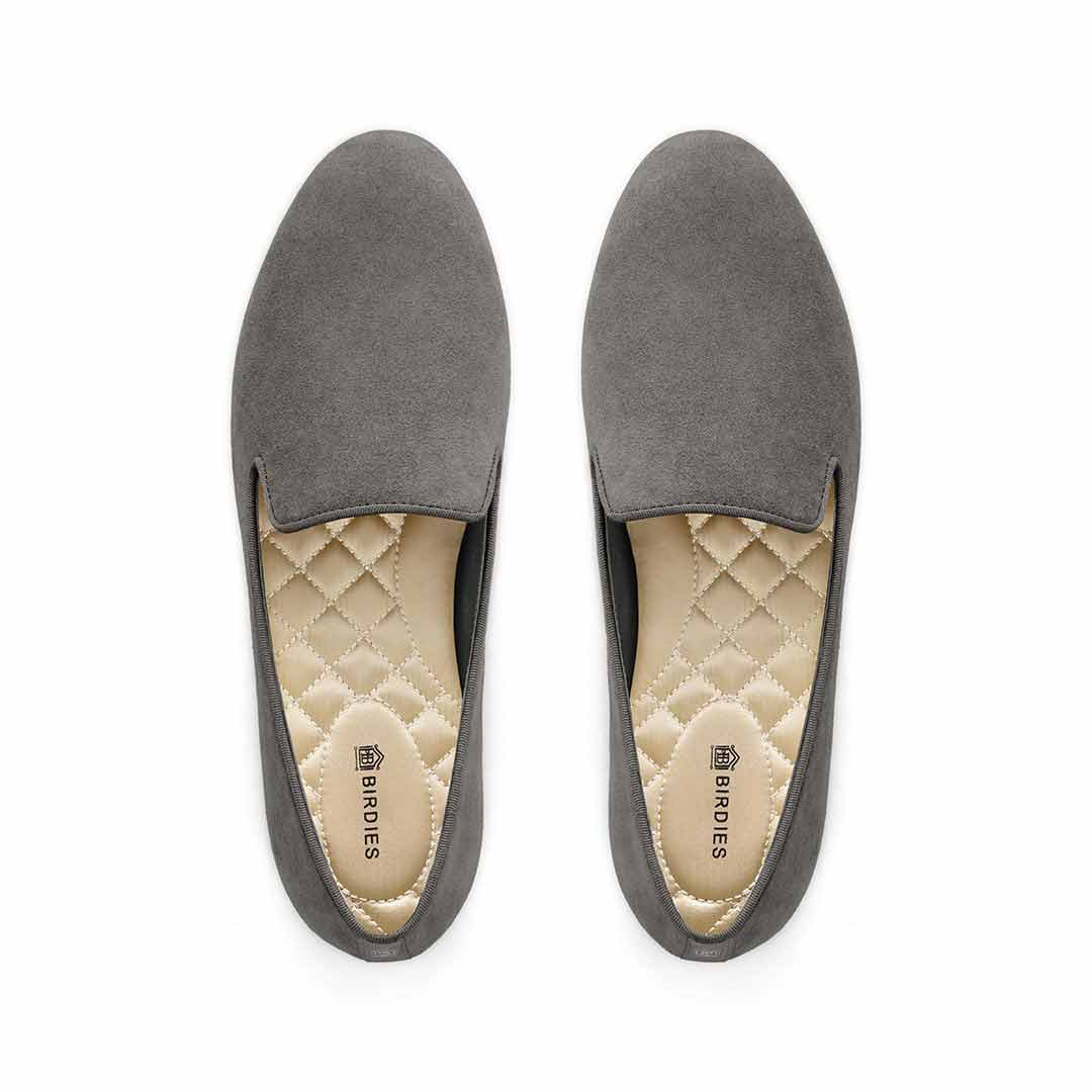 Women's flat Starling grey suede
