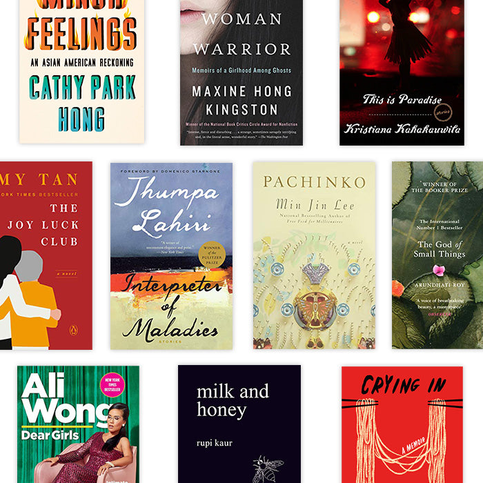 collage of AAPI book covers