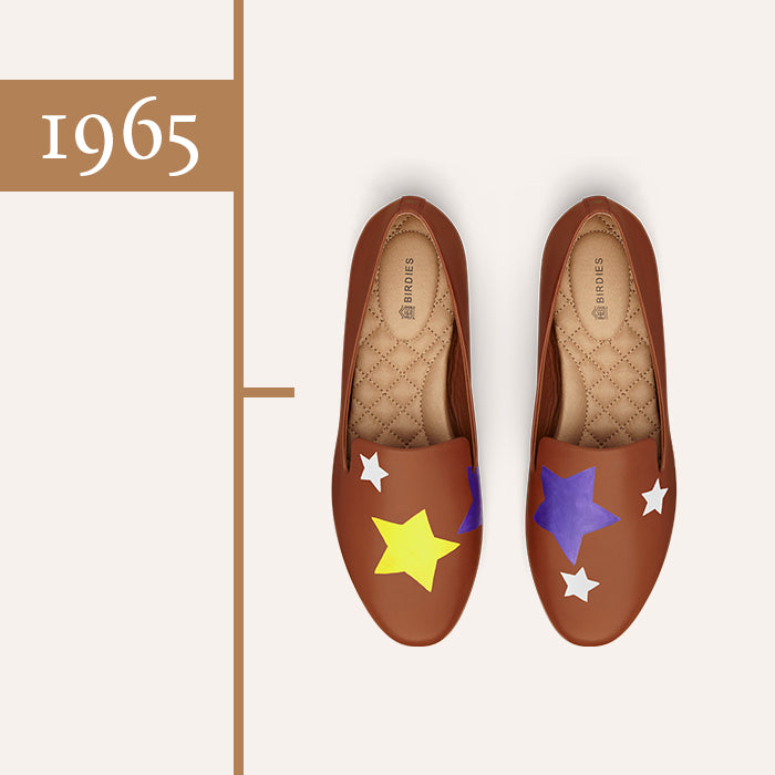brown leather voting stars shoe
