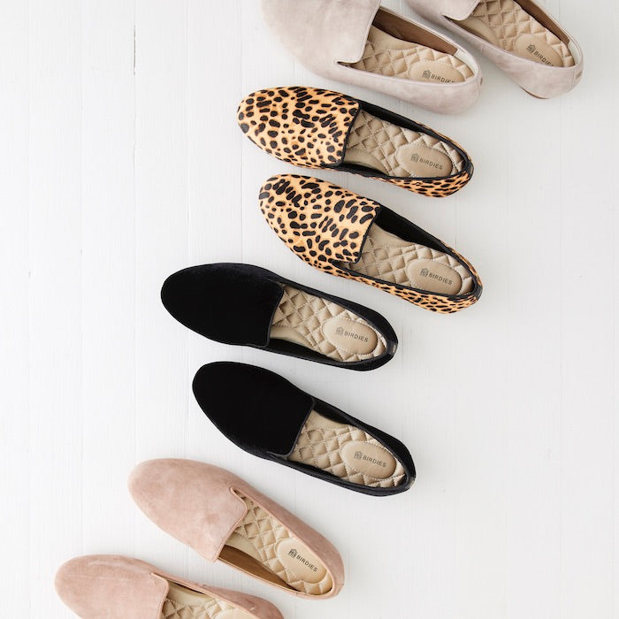 assortment of loafer-style flats