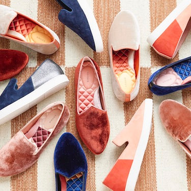 color-blocked women's flats and slip-on sneakers