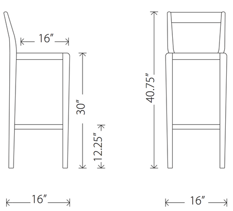 Ameri bar stool dimensions