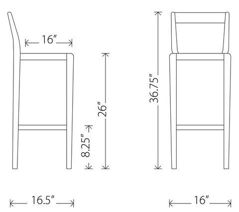 Ameri counter stool dimensions
