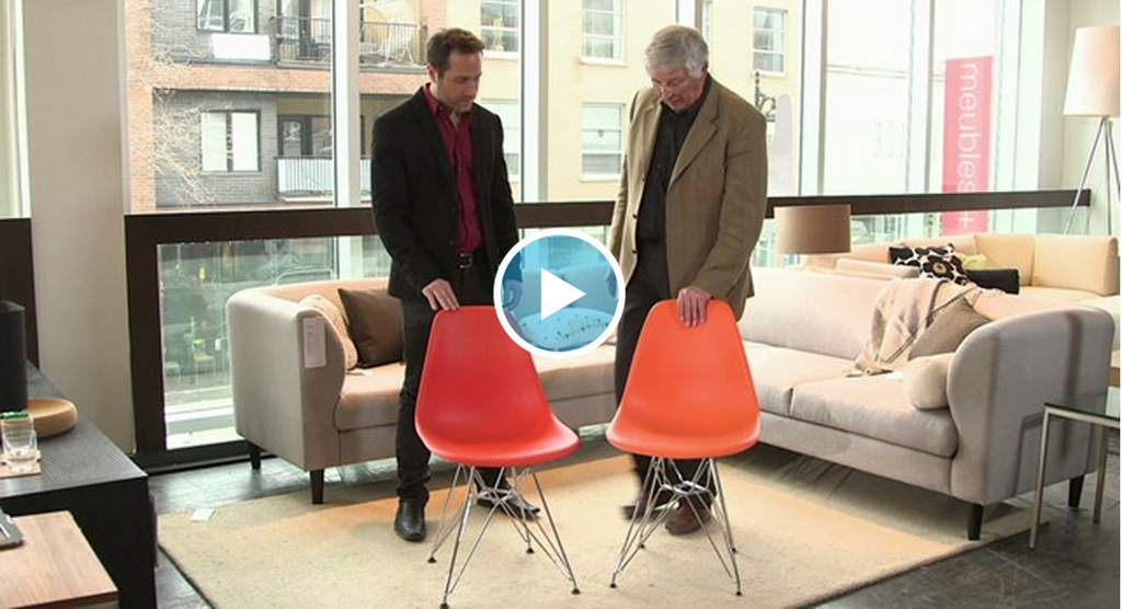 Kanvass home Eames side chair vs the original Vitra version