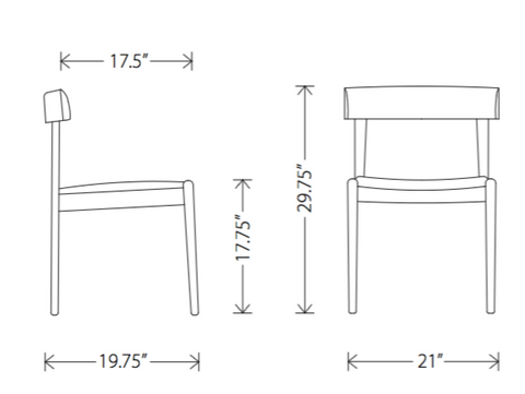 Dimensions of Garrit dining chair