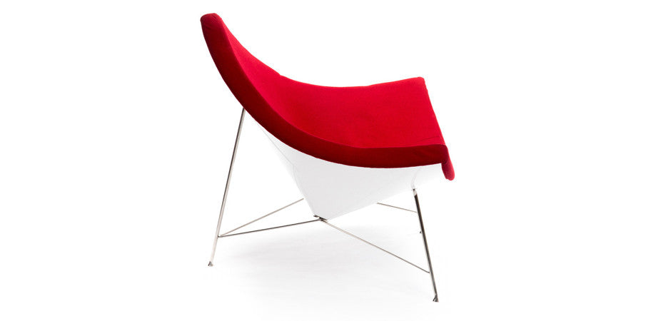 Superior ... Coconut Lounge Chair Red Upholstery Side ...