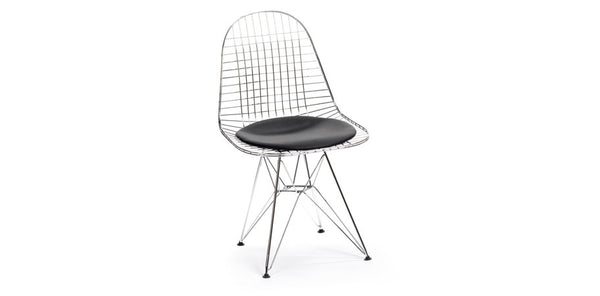 eames wire chair with seat pad dkr kanvass
