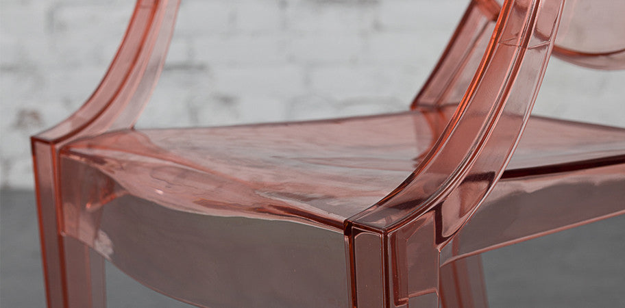 ... Louis Ghost Armchair Clear Pink Close Up ...