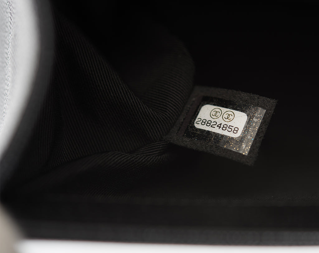 Detail image of a Chanel hologram sticker