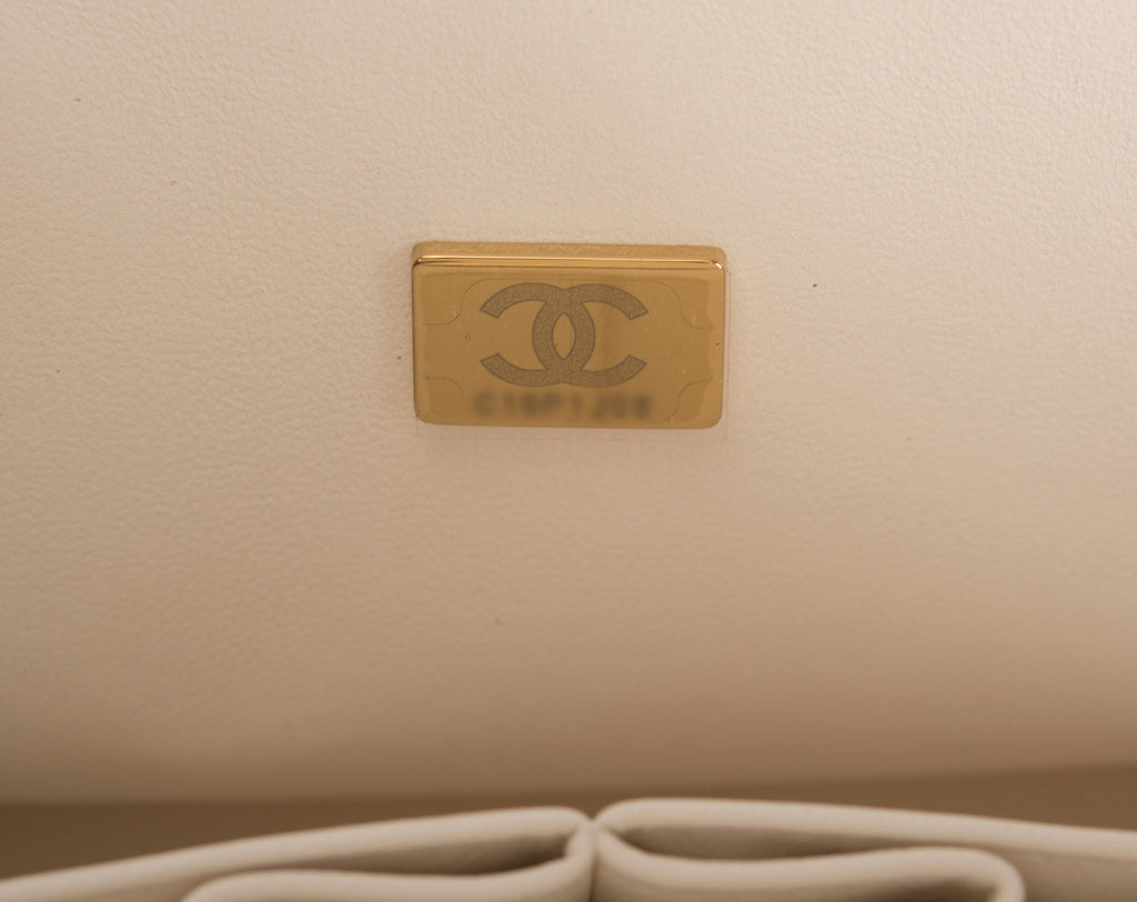 Detail image of new Chanel authenticity microchip