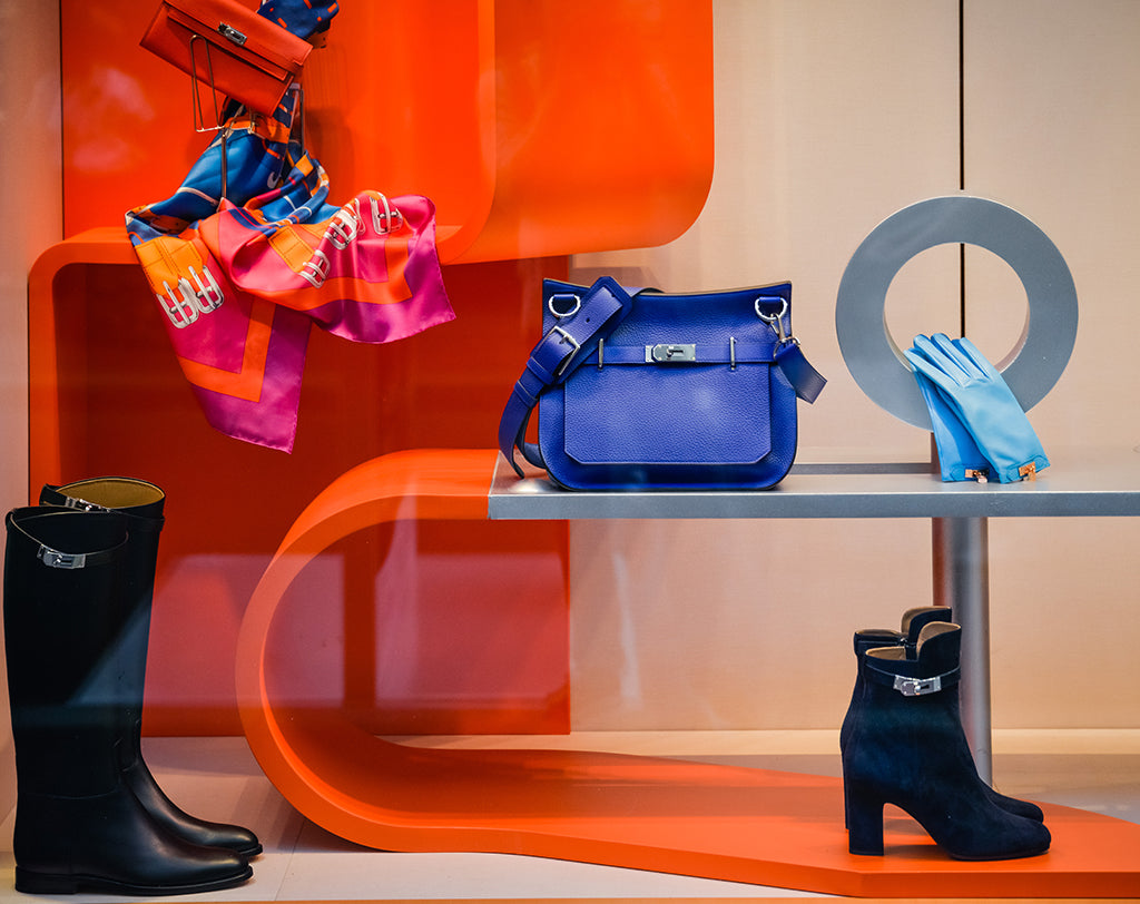 Window Display of Various Items Offered at an Hermès Store