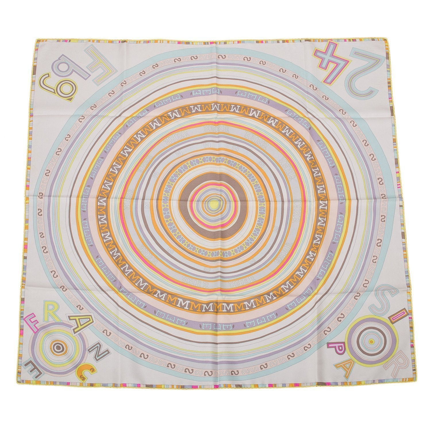 Hermes Tohu Bohu Silk Twill Scarf 90Cm Accessories