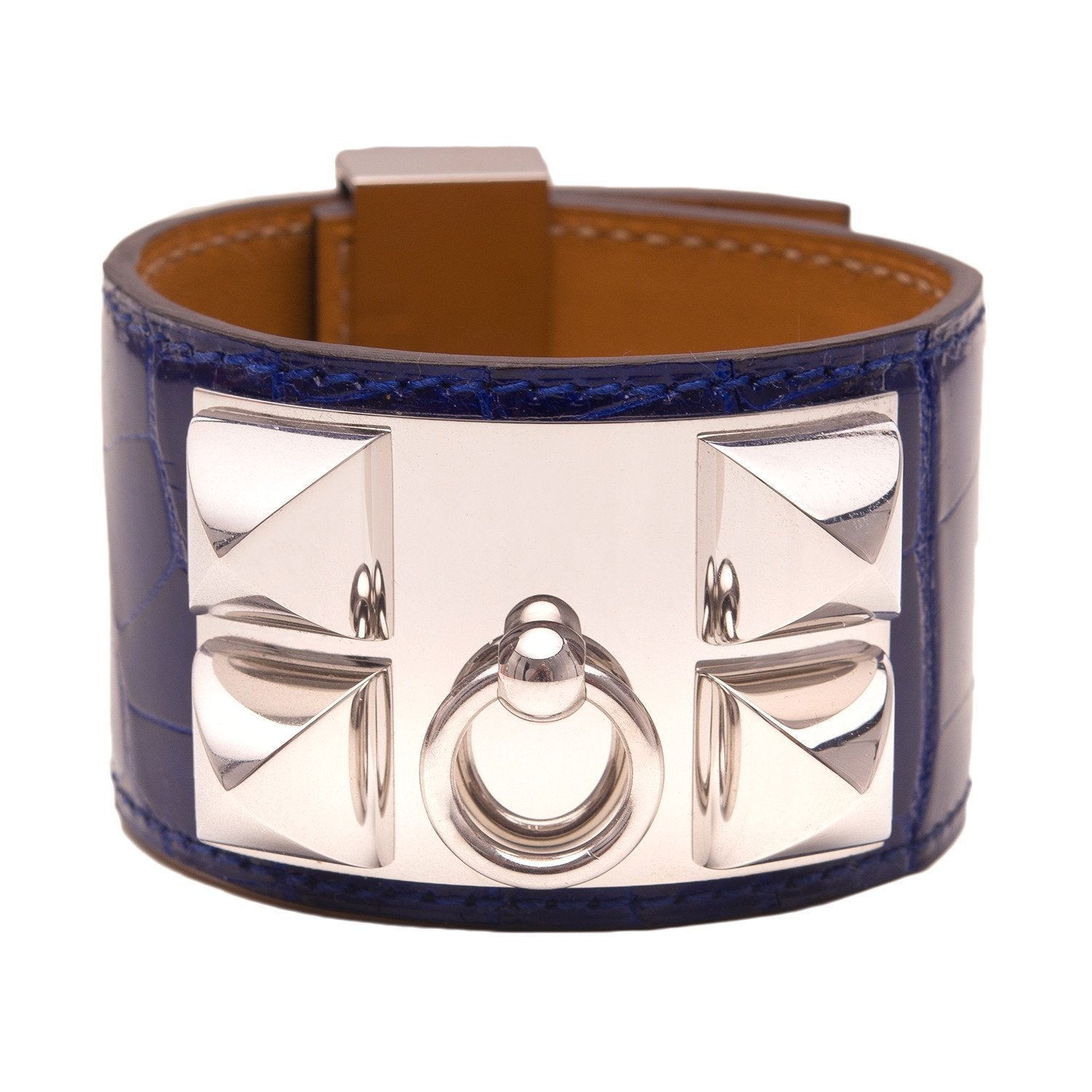 Hermes Blue Electric Alligator Collier De Chien Cdc Bracelet Small Accessories