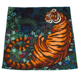 Hermes Tyger Cashmere And Silk Shawl 140Cm Scarves