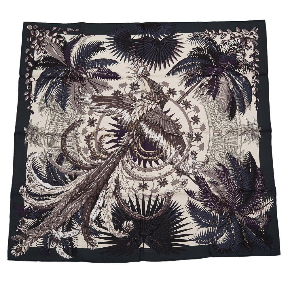 Hermes Mythiques Phoenix Silk Twill Scarf 90Cm Scarves