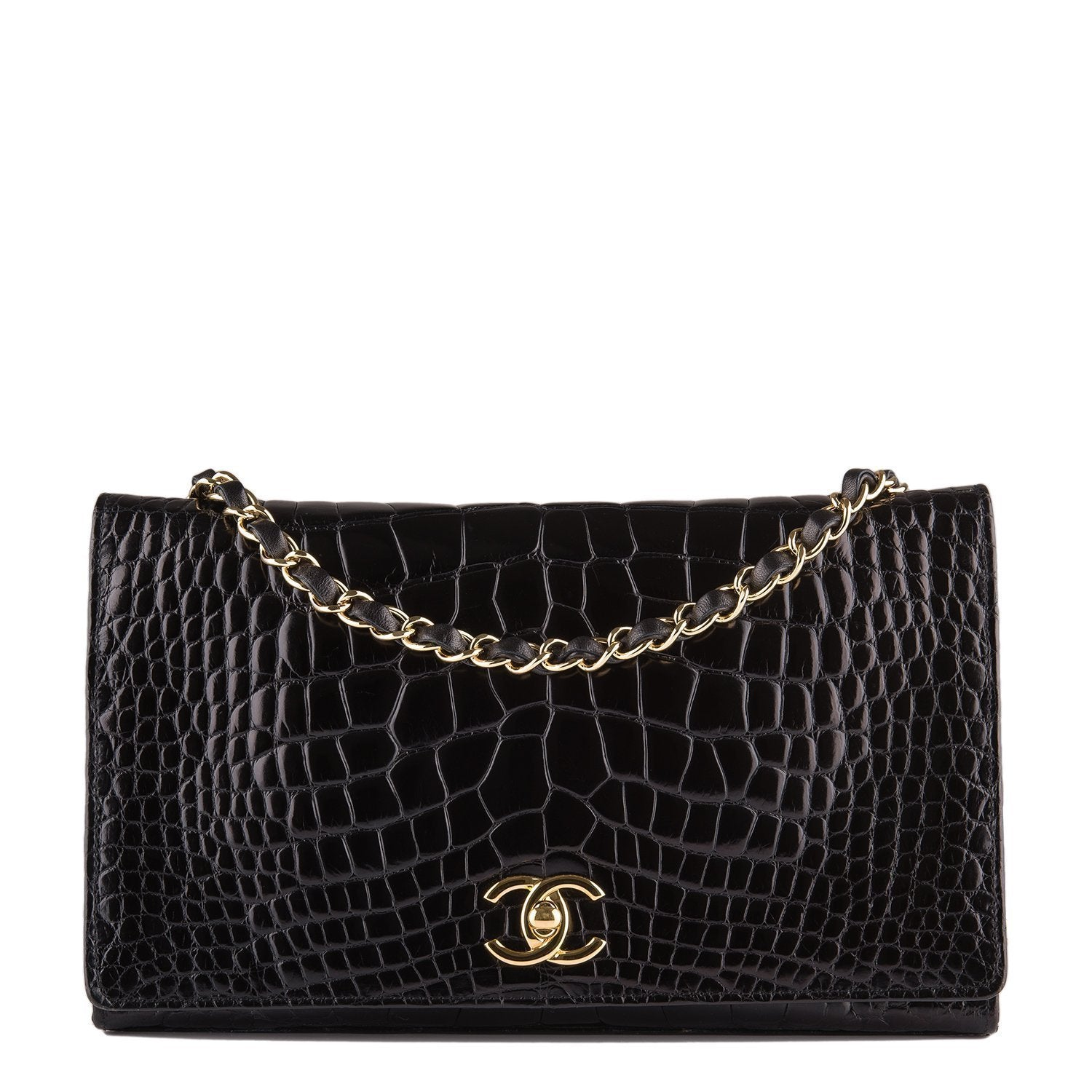 bbbdee20b33f Chanel Vintage Black Crocodile Full Flap Bag (Preloved - Mint) – Madison  Avenue Couture