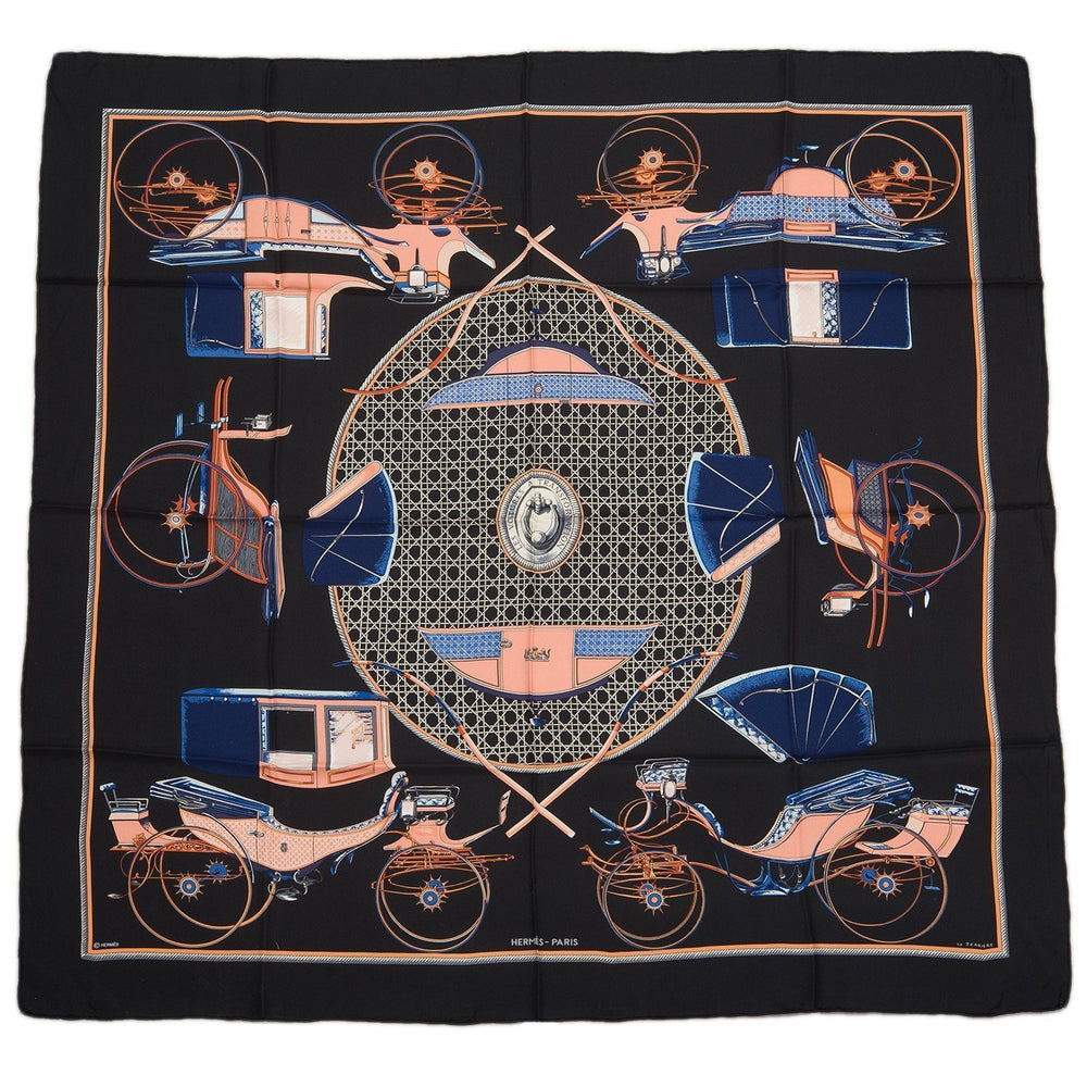 Hermes Les Voitures A Transformation Silk Twill Scarf 90Cm Scarves