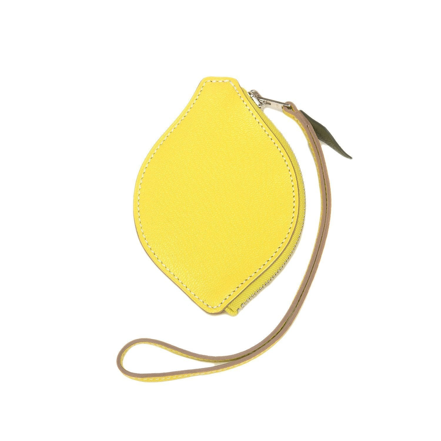 Hermes Lemon Tutti Frutti Chevre Porte Monnaie Coin Purse Accessories