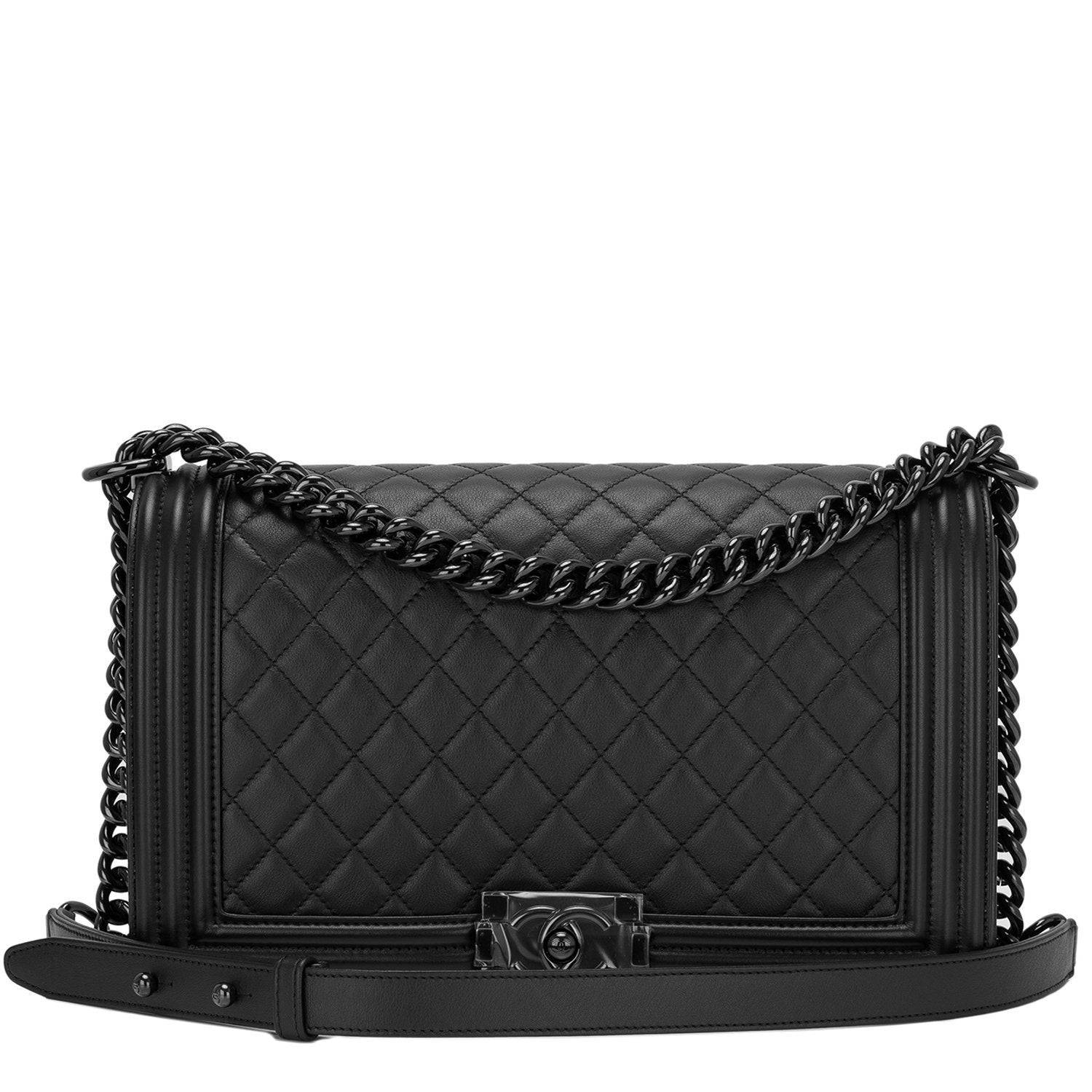 2cf41bc16571 Chanel SO Black Quilted Lambskin New Medium Boy Bag – Madison Avenue ...