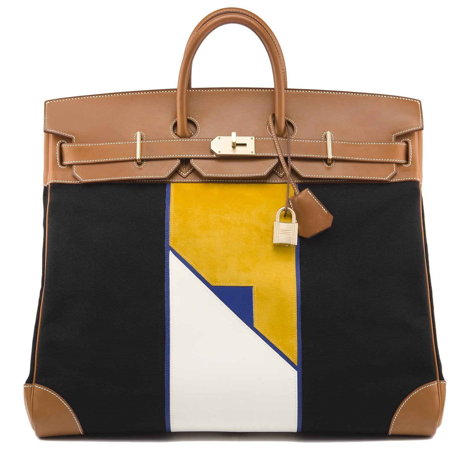 ddc3c6d499dd ... buy hermes barenia and toile flag hac birkin 50cm brushed gold hardware  6bcfd ccd84