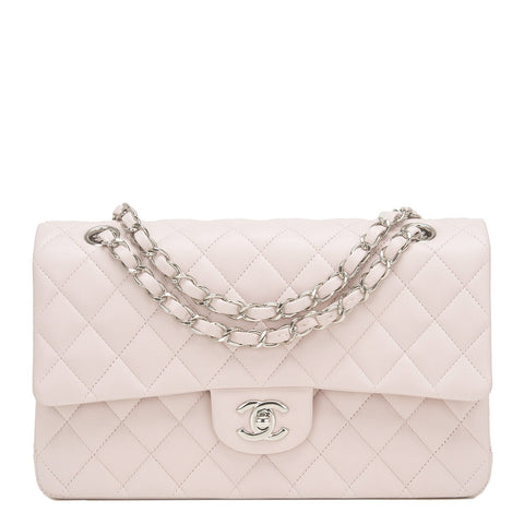 Chanel Light Pink Quilted Lambskin Medium Classic Double Flap Bag Handbags