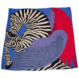 Hermes Zebra Pegasus Cashmere And Silk Shawl 140Cm Scarves
