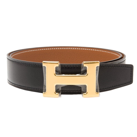 Hermes 32Mm Reversible Blackgold Constance H Belt 80Cm Gold Buckle Accessories