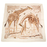 Hermes Les Girafes Cashmere And Silk Shawl 140Cm Scarves