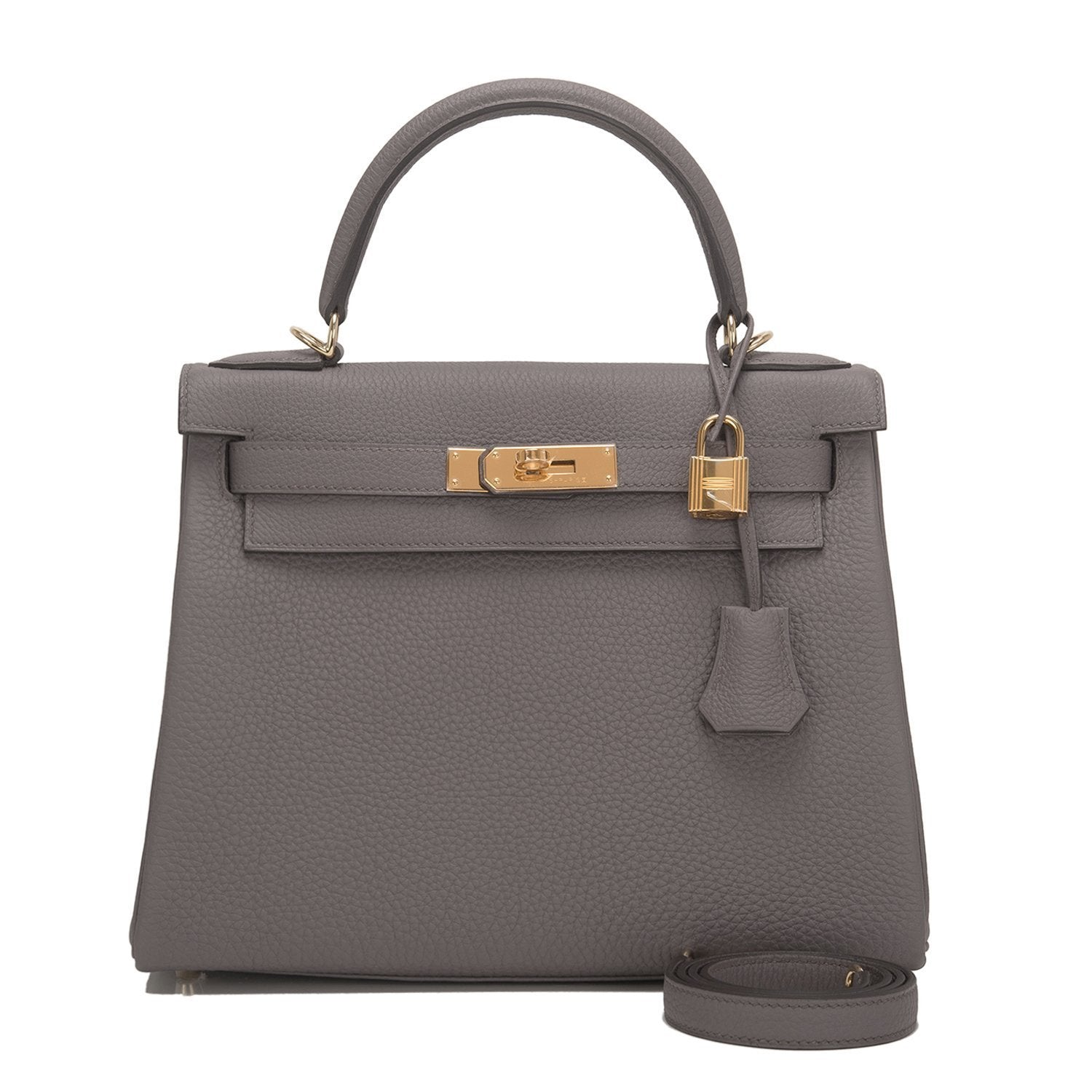 Hermes Etain Togo Kelly 28Cm Gold Hardware Handbags